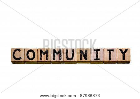 Word Community Isolated On White Background