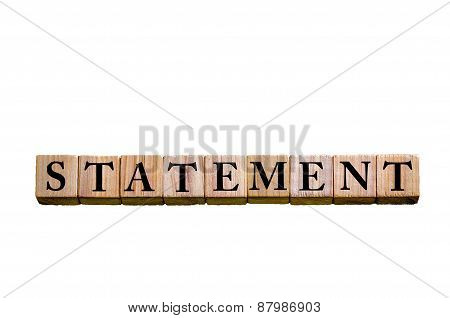 Word Statement Isolated On White Background