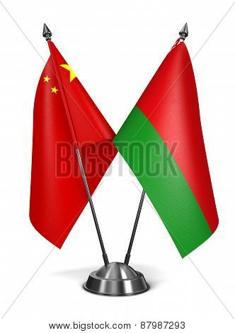 China and Belarus - Miniature Flags.