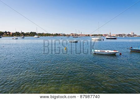 Sea Port Of Umag City, Istria, Croatia