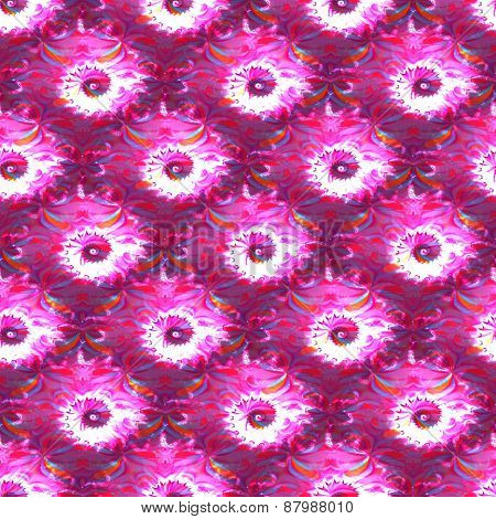 Abstract fractal spiral pink white pattern