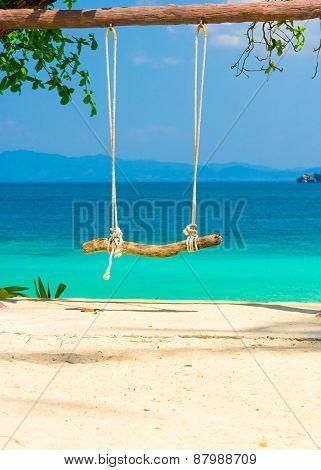 Seaside Swing Tropical Scene