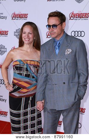 LOS ANGELES - FEB 13:  Susan Downey, Robert Downey Jr at the