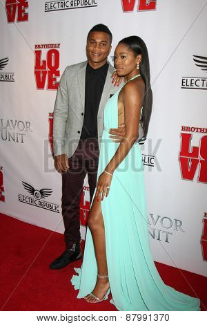 LOS ANGELES - FEB 13:  Cory Hardrict, Keke Palmer at the