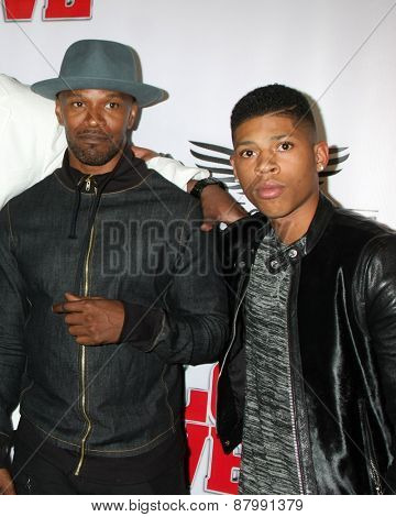LOS ANGELES - FEB 13:  Jamie Foxx, Bryshere Y Gray at the