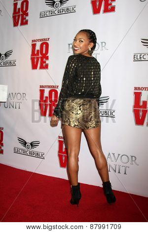 LOS ANGELES - FEB 13:  Logan Browning at the