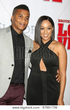 LOS ANGELES - FEB 13:  Cory Hardrict, Tia Mowry at the