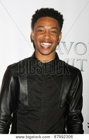LOS ANGELES - FEB 13:  Jacob Latimore at the