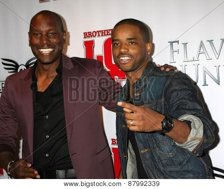 LOS ANGELES - FEB 13:  Tyrese Gibson, Larenz Tate at the