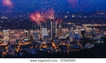Portland Oregon, Usa Fireworks