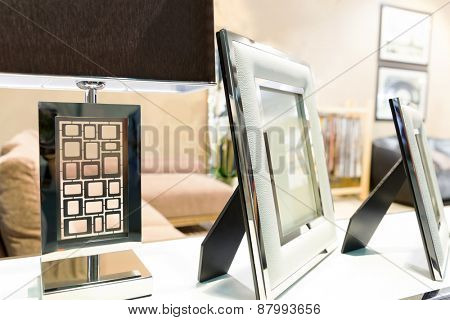 Photo frame in luxury interior