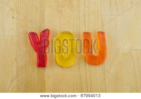 Gummy Words You