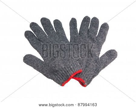 Pair Of Woven Work Gloves