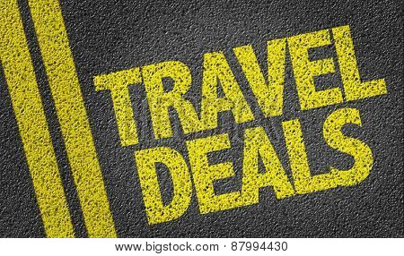 Travel Deals written on the road