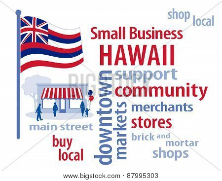 Hawaii Flag, Small Business