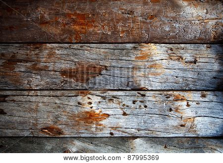 Close up of weathered wood texture