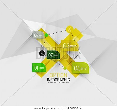 Modern abstract business geometric infographics. Vector data presentation template