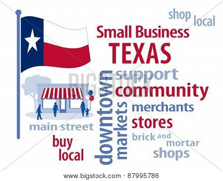 Texas Flag, Small Business