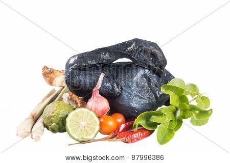 Whole Black Chicken