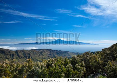 Tenerife Floating On Te Sea Of Clouds