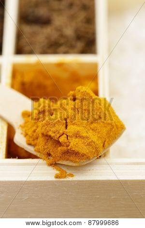Macro shot of fragrant spices for seasoning food