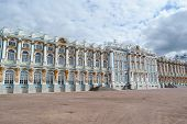 stock photo of tsarskoe  - Catherine Palace in Tsarskoe Selo suburb of St - JPG