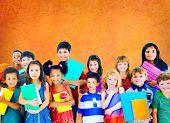 stock photo of innocence  - Diversity Children Friendship Innocence Smiling Concept - JPG
