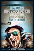 image of clubbing  - Disco Night Club Flyer layout with DJ shape and music themed elements to use for Event Poster - JPG