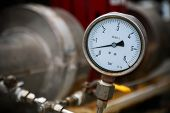 image of pressure vessel  - Pressure gauge on oil and gas process for monitored condition - JPG