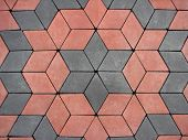 stock photo of paving stone  - red and grey block paving background  - JPG