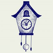 picture of pendulum clock  - Cuckoo Clock - JPG