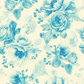 picture of blue rose  - Illustration of flowers - JPG