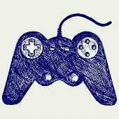 picture of controller  - Gamepad joystick game controller - JPG