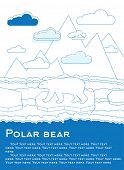 picture of global-warming  - Polar bear on an ice floe in ocean Possible result of global warming illustration for magazines or newspapers - JPG