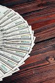 picture of 100 dollars dollar bill american paper money cash stack  - Money in dollars closeup - JPG