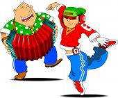 stock photo of accordion  - Teenager dancing hip - JPG