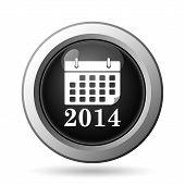 image of calendar 2014  - 2014 calendar icon - JPG