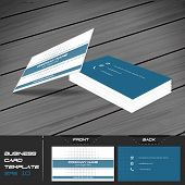 stock photo of visitation  - Business card or visiting card template - JPG