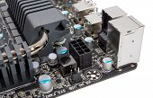 image of processor  - Multiphase power system modern processor with heatsink - JPG