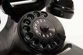 pic of bakelite  - detail of an old rotary phone numbers - JPG