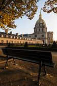 stock photo of framing a building  - Les Invalides building in Paris France - JPG