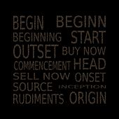 foto of start over  - Set of inscriptions on the topic of starting over - JPG