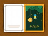 picture of dua  - Beautiful greeting card design for Islamic holy month of prayers - JPG