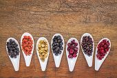 pic of aronia  - healthy dried berry collection  - JPG