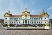 image of royal palace  - Royal grand palace with blue sky in Bangkok - JPG