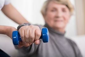 picture of physiotherapist  - Close - JPG