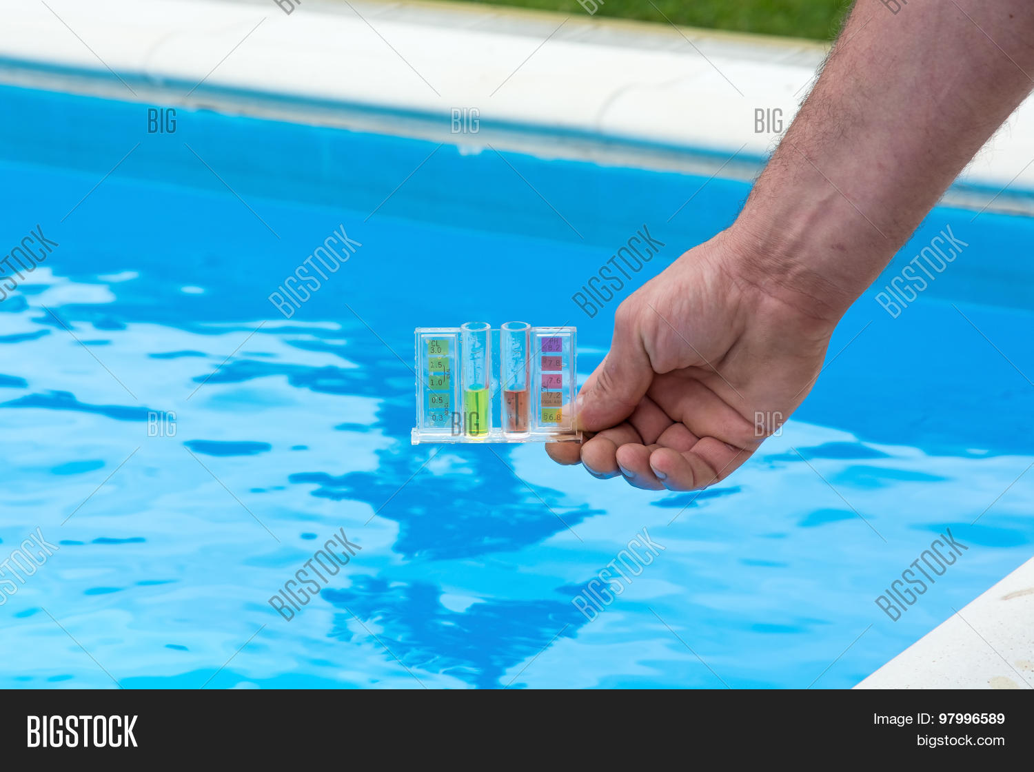 pool water testing image photo bigstock. Black Bedroom Furniture Sets. Home Design Ideas