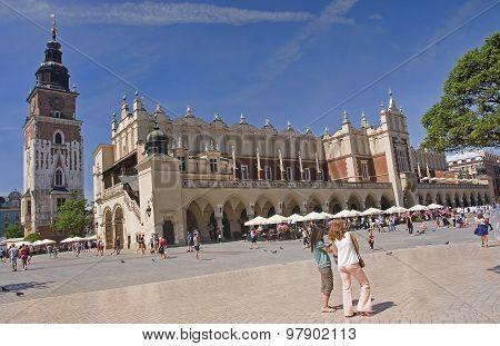 Krakow, Poland - August 1, 2015: Sukiennice On 1 August 2015 In