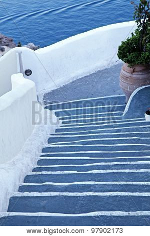 Unique Steps In Oia, Santorini