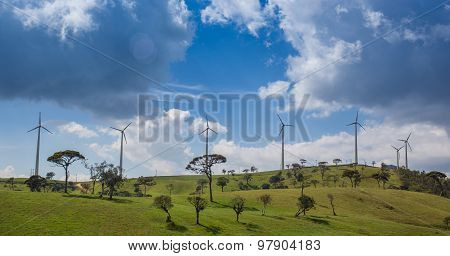 Eco power, wind turbines